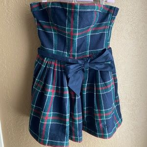 Abercrombie and Fitch Strapless Mini Holiday Dress
